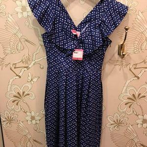 Kate Spade - geo dot poplin dress